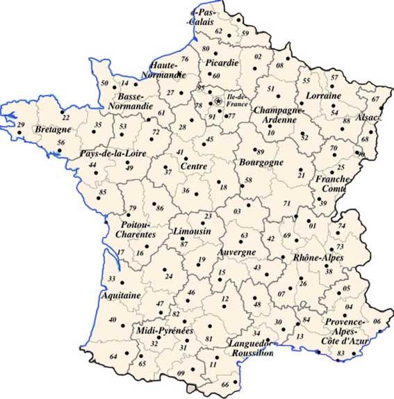 carte de france avec les departements Phone books of breeders' addresses of dwarfish poultry of